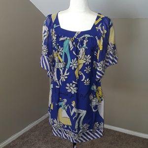 Voom by Joy Han Silk Artisan Dress